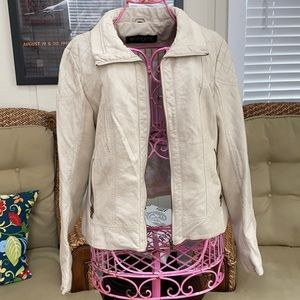Guess Leather & Sweater Bomber Jacket
